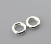 500pcs Gift Silver Plated Soldered Closed Jump Rings 4mm