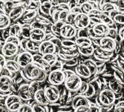 ETHAHE 100Pcs 6mm Silver Metal Jump Rings