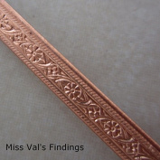 0.3m 5.2mm Copper Bezel Wire with Flower Pattern 15 Gauge