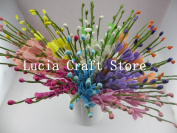 9 bouquets/lot Mixed 9 colours Approx 25cm Wedding Artificial Flower Flower Bouquet/Stem DIY Home Decoration Floral