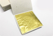 20 Gold Leaf Sheets Gold Leaf Sheets 999/1000 Real Gold super Quality