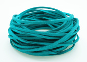 TEAL 3mm x 1.5mm Faux Suede Cord Leather Lace Bracelet Necklace Making