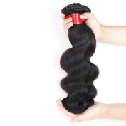 Angela Star Virgin Human Hair Extension Brazilian Virgin Hair Body Wave, 100% Unprocessed Human Hair Weave 3 Bundles, Natural Colour, Grade 6a, More Thicker Brazilian Hair Bundles