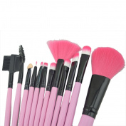 ZENITH FASHION 12Piece Pink Cosmetic Brushes Best Makeup Brush Sets Premium Synthetic Brush Set