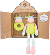 Organic Farm Buddies Gift Set, Belle Cow