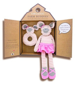 Organic Farm Buddies Gift Set, Ballerina Mouse