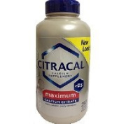 Bayer Citracal Calcium Citrate Plus D3 Maximum Coated Caplets, 280 Count Thank you for using our service
