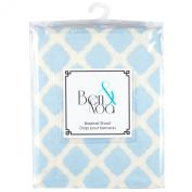 Ben & Noa Fitted Bassinet Sheet Flannel, Blue Lattice