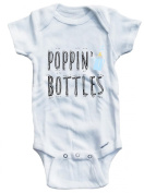 Baby Tee Time Boys Poppin' bottles One piece