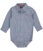 OshKosh B'gosh Cheque Bodysuit 11058923, White/Blue, 24 Months