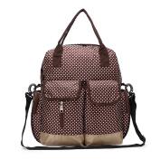 Hoxis Multifunction Polka Dots Baby Boom Backpack Nappy Bag