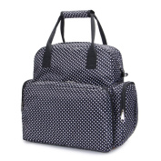 Hoxis Travel Portable Multifunction Polka Dots Baby Boom Backpack With Foldover Nappy Ipad