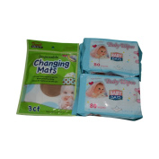 Baby Wipes and Disposable Changing Mat Bundle Pack