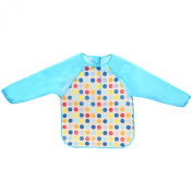 Baby bibs cute baby clothes children eat long sleeved clothing waterproof gowns