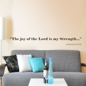 GECKOO Inspirational Quote The Joy of the Lord is my Strength Teen Room Decor Nursery Scripture Wall Sticker