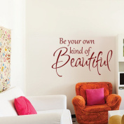 Nursery Wall Sticker Quote Removable Girls Room Wall Words Saying Lettering Art Be your Own Kind Of Beautiful