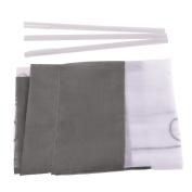 ZARABE Grey embroidery stitching curtain Liftable rod wear ribbons Roman screen,60x120cm