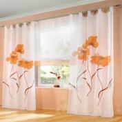 ZARABE Terri Wong yarn handmade spray curtain living room bedroom screens Orange,150x225cm