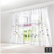 ZARABE purple handmade inkjet rustic curtains study bedroom living room screens,150x245cm