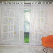 ZARABE Yellow handmade inkjet rustic curtains study bedroom living room screens,150x175cm
