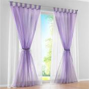 ZARABE Solid double Window Curtaincurtain pastoral Mediterranean Room Screens 150x175cm,purple