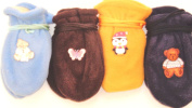 Set of Four Pairs Fleece Winter Very Warm Mittens for Infants Ages 3-24 Months