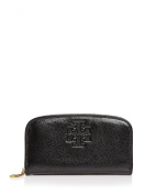 Tory Burch Britten Patent Zip Continental Wallet - Black