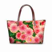 FOR U DESIGNS Fashion Vintage Rose Floral Print Waterproof Women Casual Handbag Tote Bags