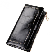 YaFeiGe Women Leather Long Zipper Wallet Clutch Purse Card Coin Case Money Clip