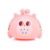 GBSELL Women Owl Silicone Jelly Wallet Cute Change Bag Key Pouch Coin Purse