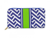 Nautical Tide Blue and White Vegan Leather Womens Everyday Wallet