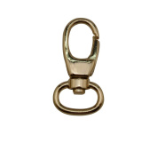 Tianbang Light Golden 1.3cm Inside Diameter Oval Ring Lobster Clasp Claw Swivel Eye Lobster Snap Clasp Hook for Strap Pack of 10