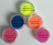 (Lot of 5) 3 Gramme Jar 3g Sample Jars Neon Matte Cp Mp Hp DIY Soap Making Craft Pigment Pink Orange Yellow Blue Myluxury1st Powders