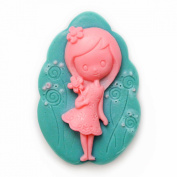 Longzang Girl Mould S401 Craft Art Silicone Soap Mould Craft Moulds DIY Handmade Candle Moulds