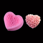 Hual@love Rose Soap Mould Fondant Cake Mould Baking Diy Tools