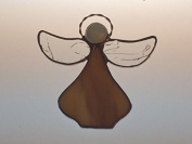 Handcrafted (Beige) Angel Sun Catcher Stained Glass Ornament