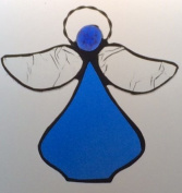 Handcrafted (Royal Blue) Angel Sun Catcher Stained Glass Ornament