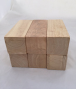 Solid Hard Wood Blocks- 13cm Long By 5.1cm Wide - Pack of 6 By Sustainable Things
