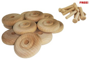Wood Wheels - 12 Pack with Free Axle Pegs