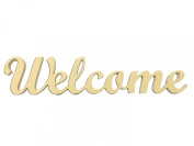 Mini 7.6cm Script Welcome Word Miniature Unfinished DIY Wooden Craft Cutout to Sell Stacked