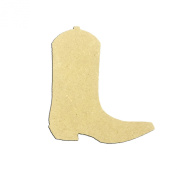 Mini 10cm Cowboy Western Boot (Pkg of 4) Miniature Unfinished DIY Wooden Craft Cutout to Sell Stacked
