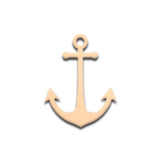 Mini 10cm Ship's Anchor (Pkg of 4) Miniature Unfinished DIY Wooden Craft Cutout to Sell Stacked