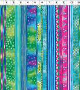 1 Yard Dogs & Doggies Laurel Burch Clothworks cotton quilt fabric Y1797-34 Dark Aqua