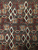 Diamond Tribal Pattern on Stretch Bulgari Knit Jersey Polyester Spandex Fabric By the Yard