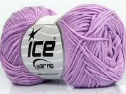 Lot of 8 Skeins ICE YARNS Cotton Bamboo Lilac
