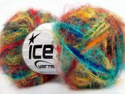 Lot of 8 Skeins ICE YARNS Vitech Rainbow