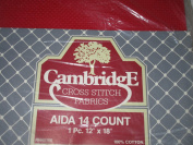 Red Aida 14 Count Cross Stitch Fabric ... 1 pc 30cm x 46cm