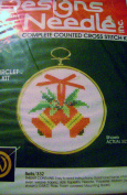 Designs for the Needle Counted Cross Stitch Kit Bells Circlet Christmas Ornament