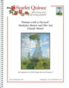 Scarlet Quince MON020 Woman with a Parasol - Madame Monet and Her Son by Claude Monet Counted Cross Stitch Chart, Regular Size Symbols