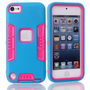 iTouch 5,Touch 6 Case,SAVYOU 3in1 Heavy Duty High Impact Armour Case Cover Protective Cover Case for Apple iPod touch 5 6th Generation